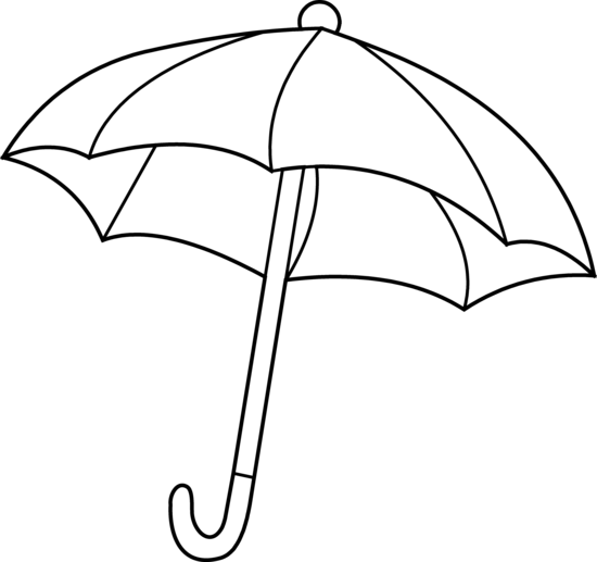 550x517 Umbrella Coloring Page