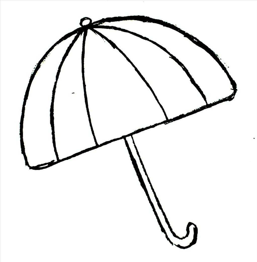 1023x1041 Umbrella Coloring Page