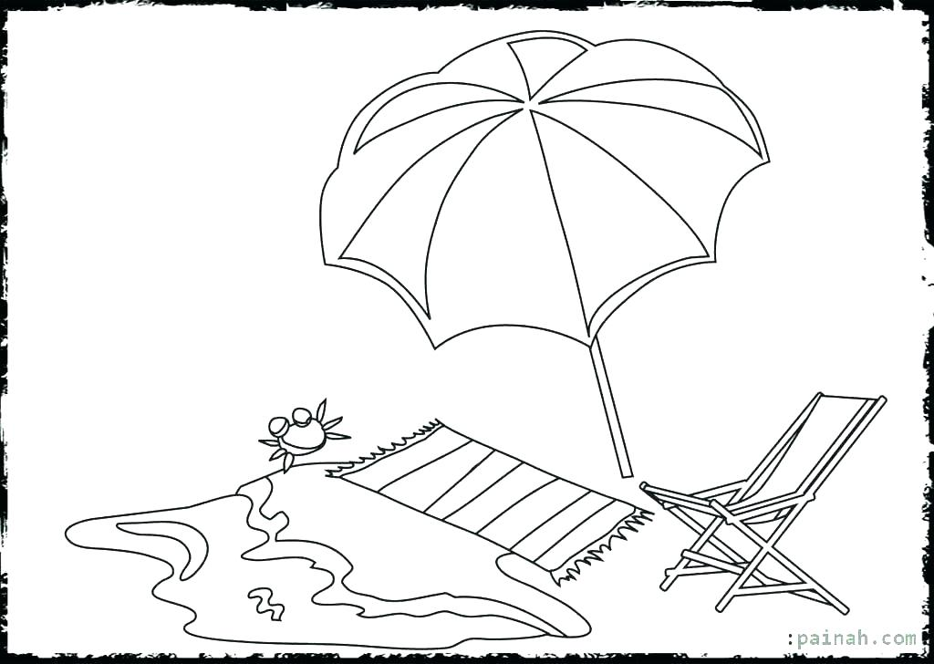 1024x728 Beach Color Pages Beach Color Pages Beach Umbrella Coloring Pages