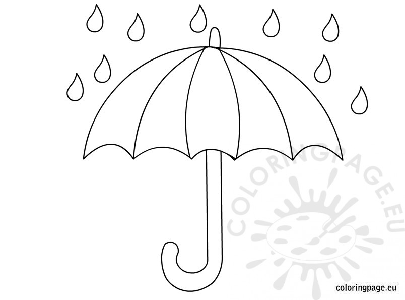 804x595 Umbrella Coloring Page Umbrella Coloring