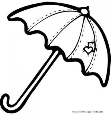 388x402 Closed Umbrella Coloring Pages Kids Coloring Pages Just