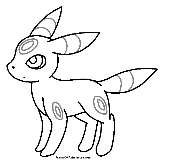 Umbreon Coloring Pages
