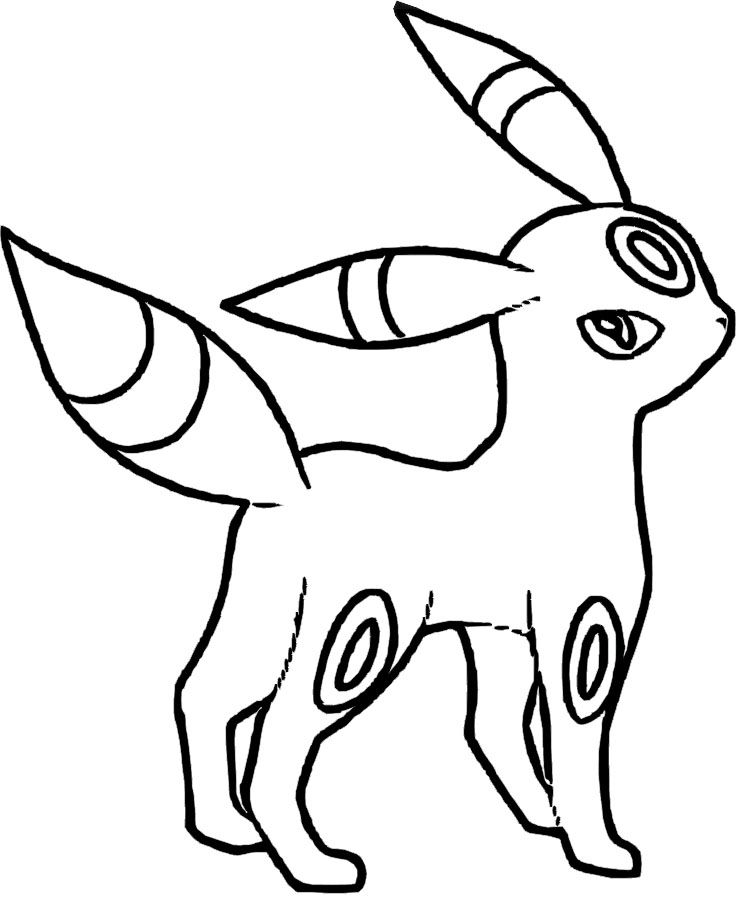 749x922 Umbreon Pokemon Coloring Pages Umbreon Pokemon Coloring Pages