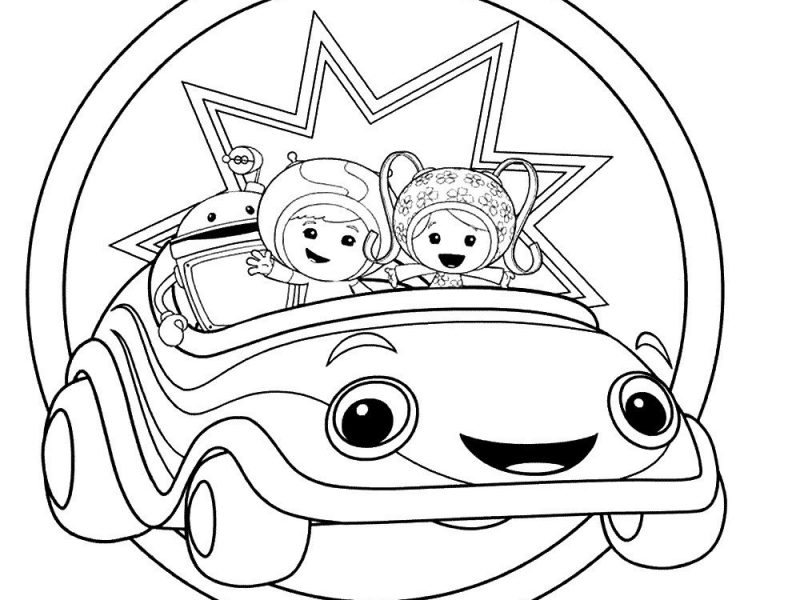 800x600 Team Umizoomi Coloring Pages Free Printable Team Umizoomi Coloring