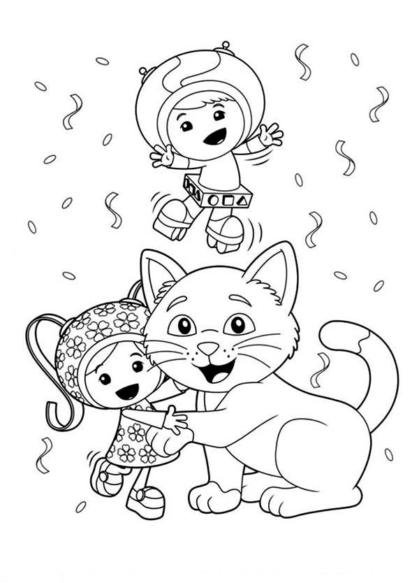 600x834 Team Umizoomi Coloring Pages Free Milli Is Kitten Love In Team
