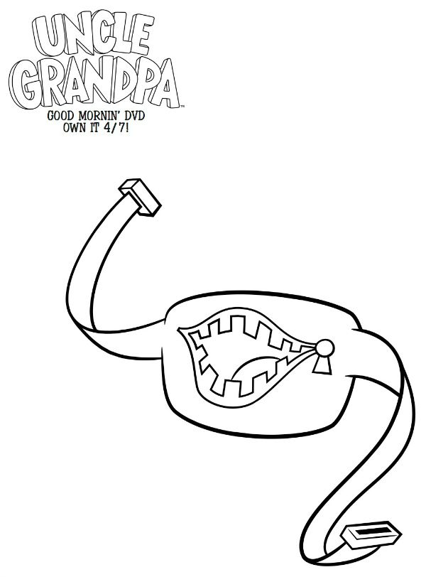 600x812 Free Printable Uncle Grandpa Belly Bag Coloring Page Lugares Que