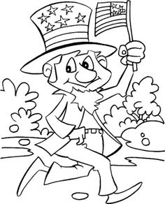 Uncle Sam Coloring Page