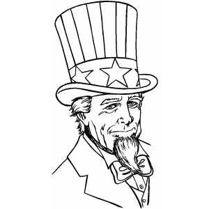 300x300 Serious Uncle Sam Coloring Page