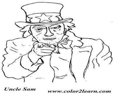 400x322 Uncle Sam Cartoon Coloring Page Panda