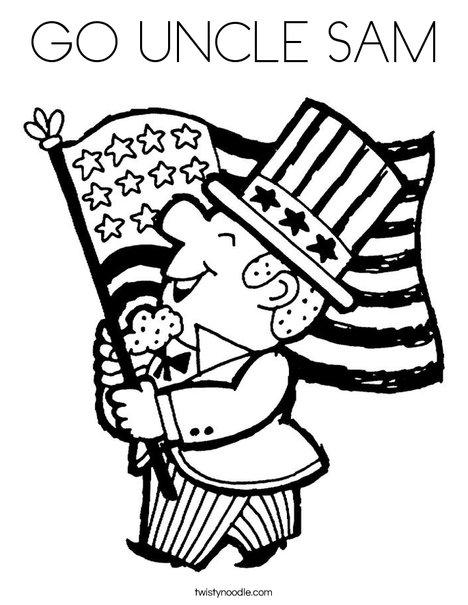468x605 Go Uncle Sam Coloring Page