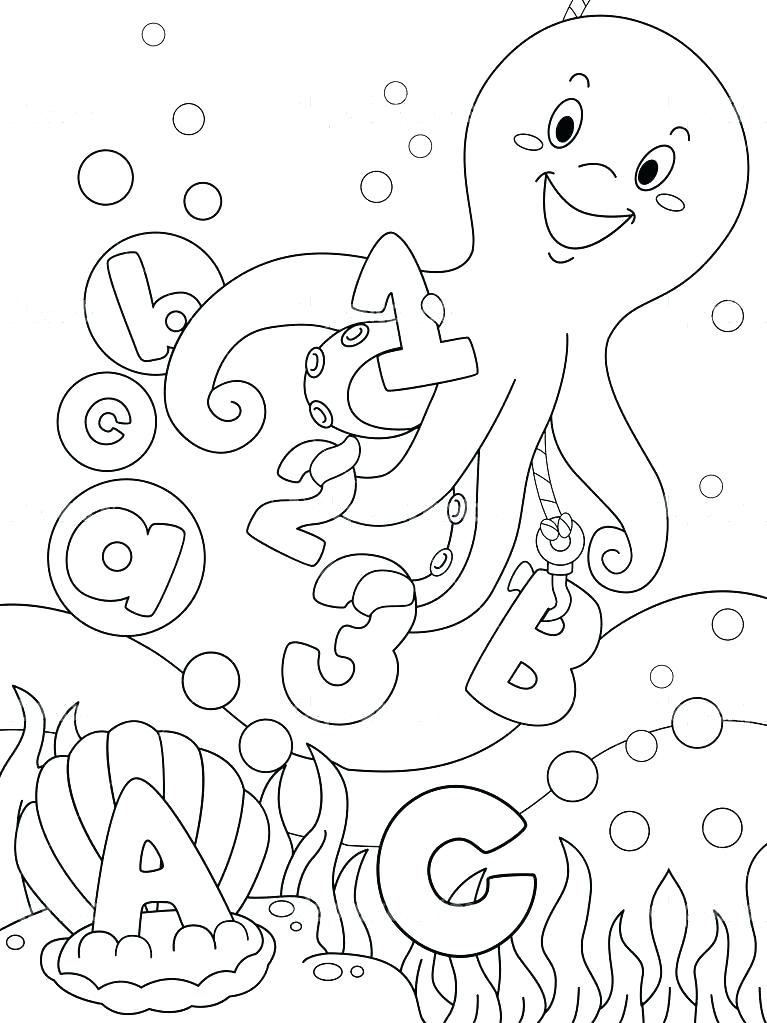 767x1023 Underwater Coloring Pages Under Sea Coloring Pages Underwater