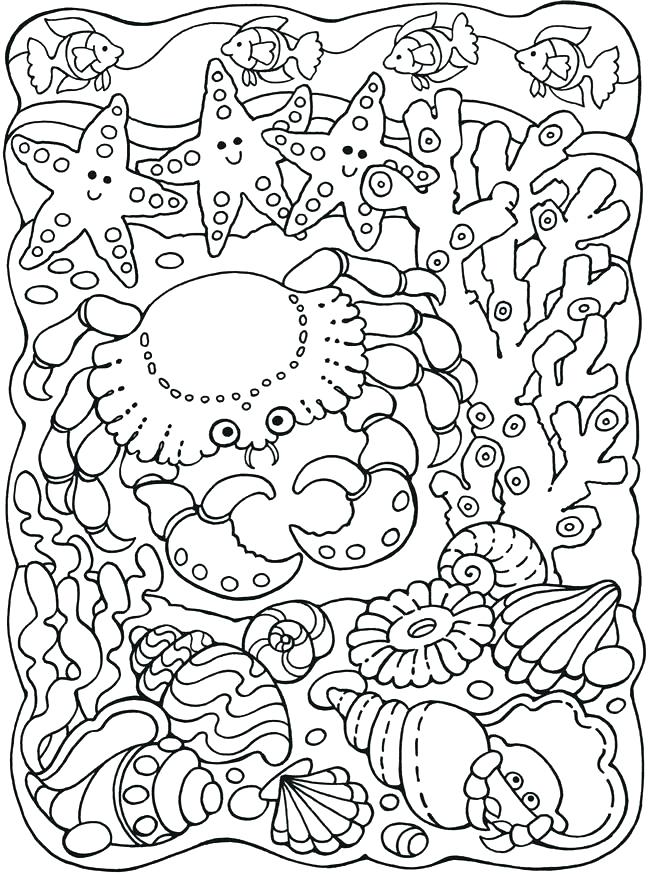 650x875 Marine Life Coloring Pages Sea Life Coloring Pages Large Size