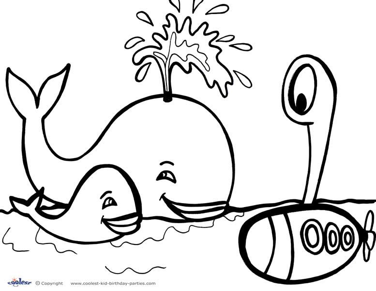 777x600 Printable Under The Sea Coloring Page