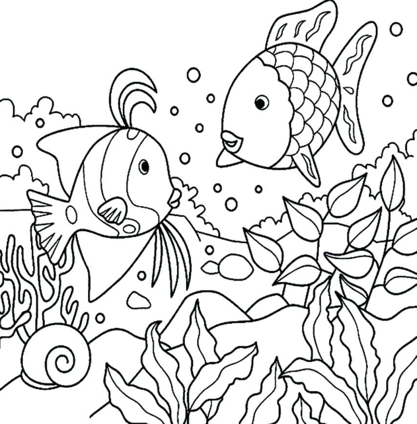 854x868 Sea Coloring Page Outstanding Sea Coloring Pages Coloring