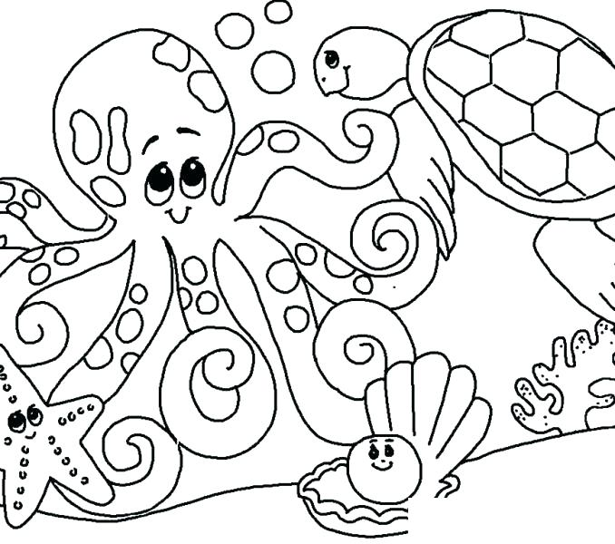 678x600 Sea Coloring Pages Best Under The Sea Coloring Pages Snapshot Sea