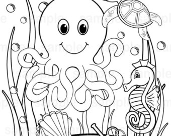 340x270 Under The Sea Coloring Pages Pdf Under The Sea Coloring Pages