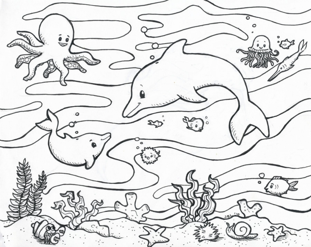 1024x815 Best Of Coloring Page Sea Creatures Building A Sand Castle