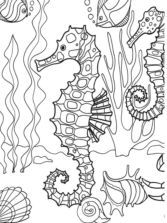 650x867 Dover Publications Sample Page From Under The Sea Adventure
