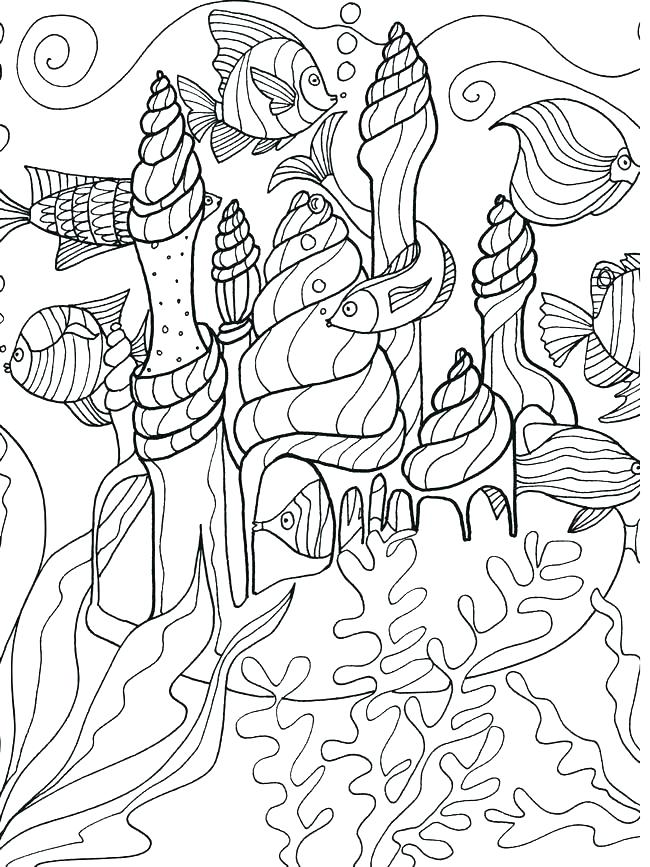 650x867 Ocean Life Coloring Pages Free Ocean Life Coloring Pages Under