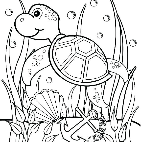 570x576 Sea Coloring Pages