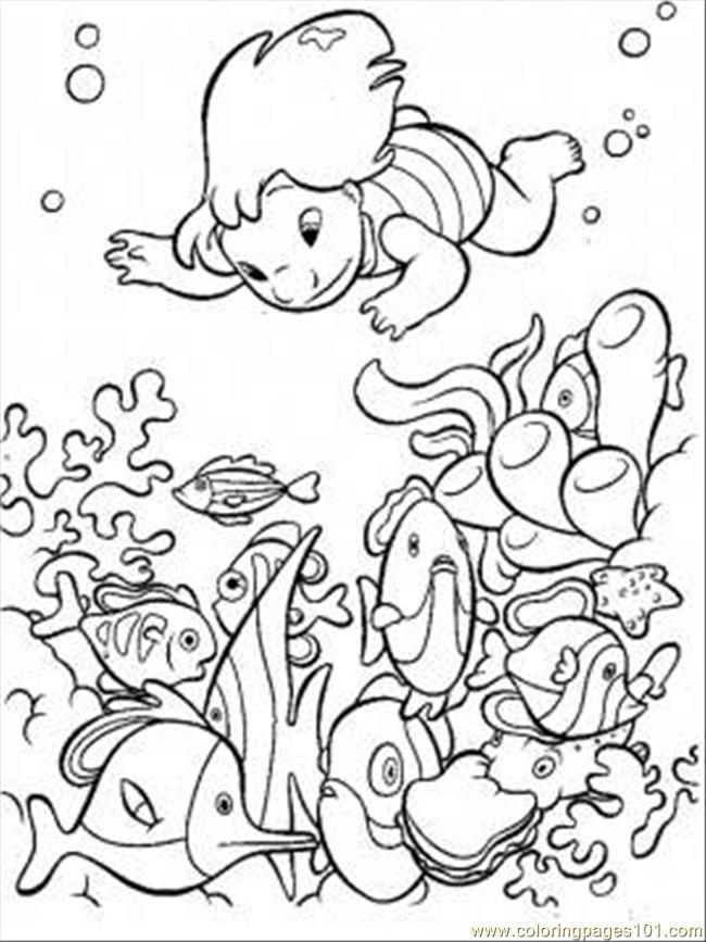 650x867 Skillful Under The Sea Coloring Pages Page Free Seas And Oceans