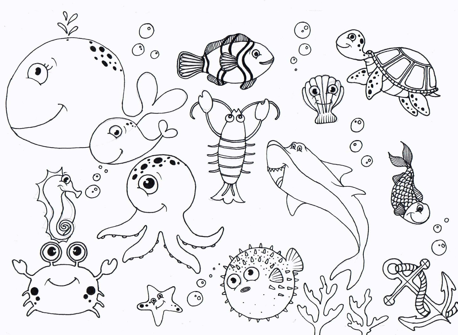 1600x1173 Under Sea Coloring Pages High Quality