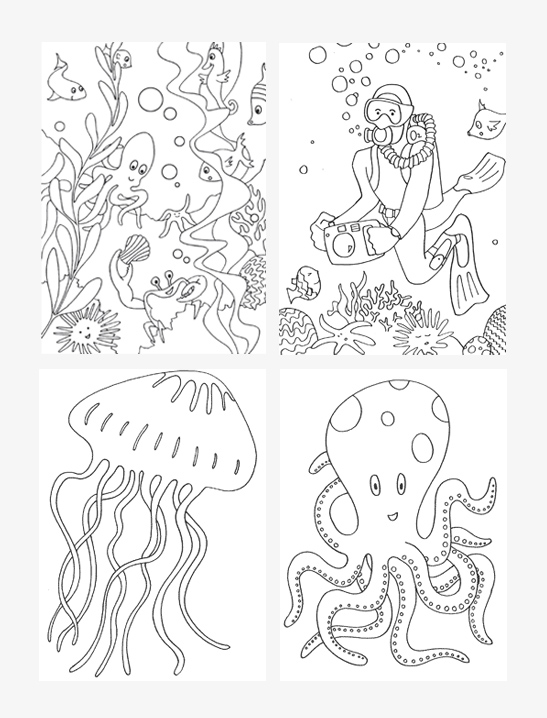 547x718 Under The Sea Coloring Pages