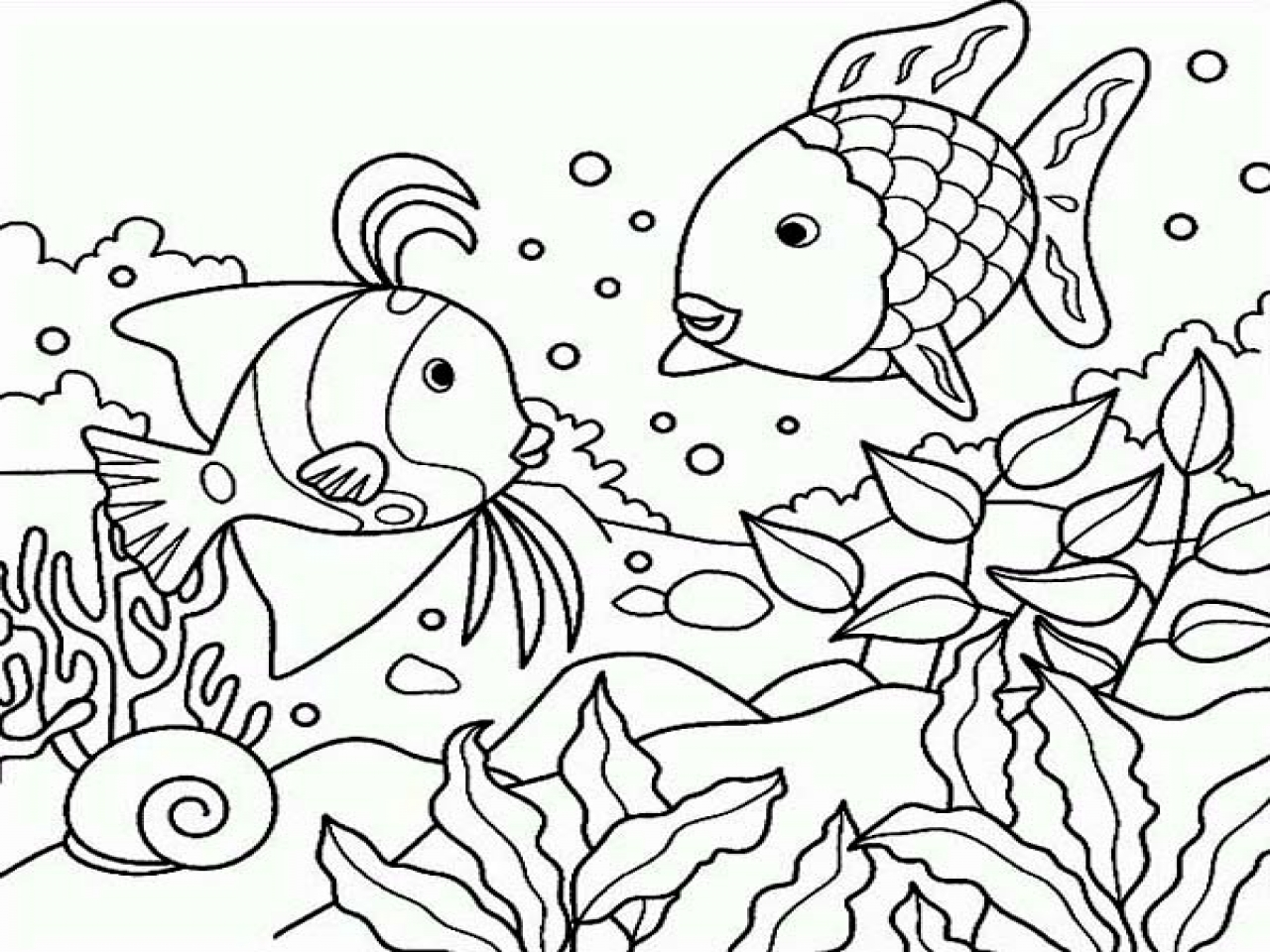 1280x960 Under The Sea Coloring Pages Mayapurjacouture Com In Plans