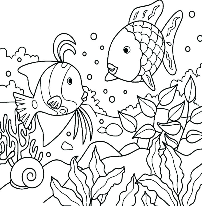 854x868 Under The Ocean Coloring Pages