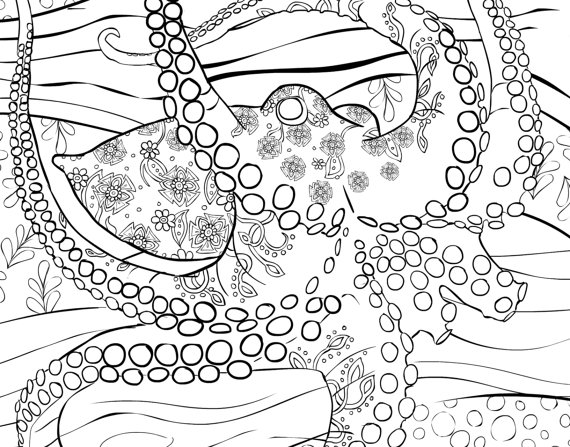570x447 Adult Coloring Book Page From Coloring Book For Adults