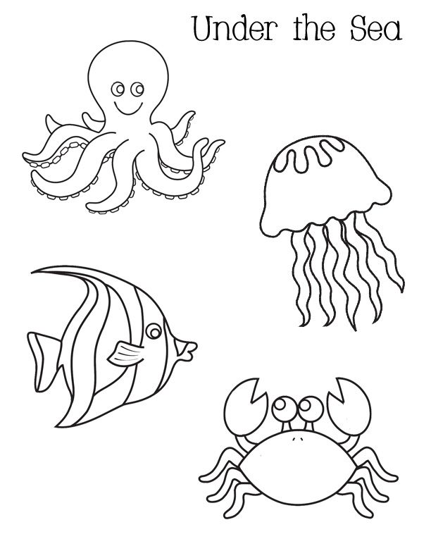 612x792 Under The Sea Coloring Pages Sea Coloring Pages Sea Coloring Pages