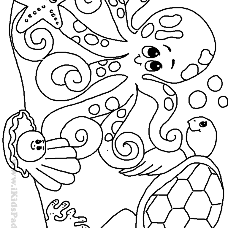 Slim SLots: Cute Baby Sea Animal Coloring Pages