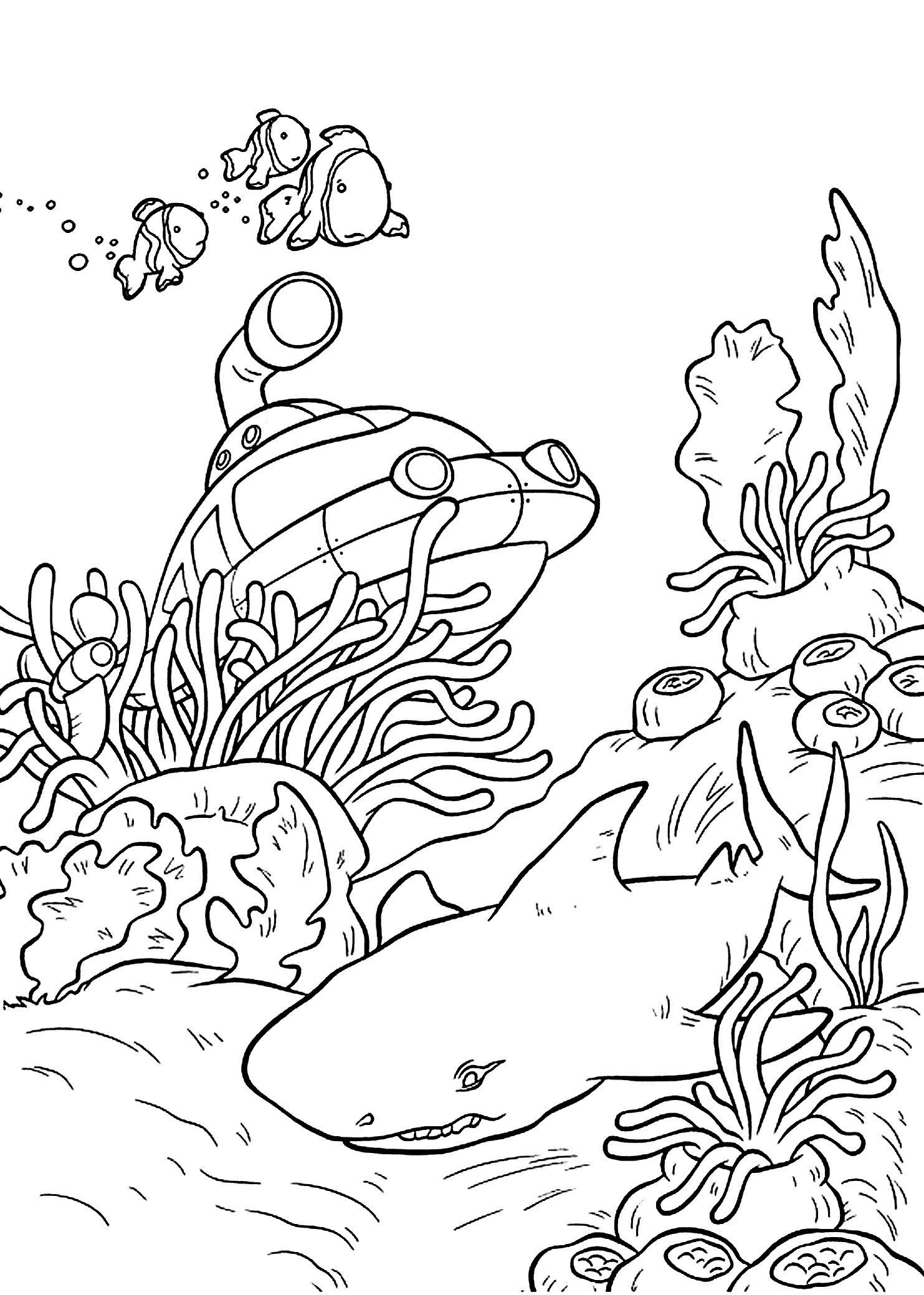 1483x2079 Incredible Coloring Pages Underwater Sheet Pics Of For Adults