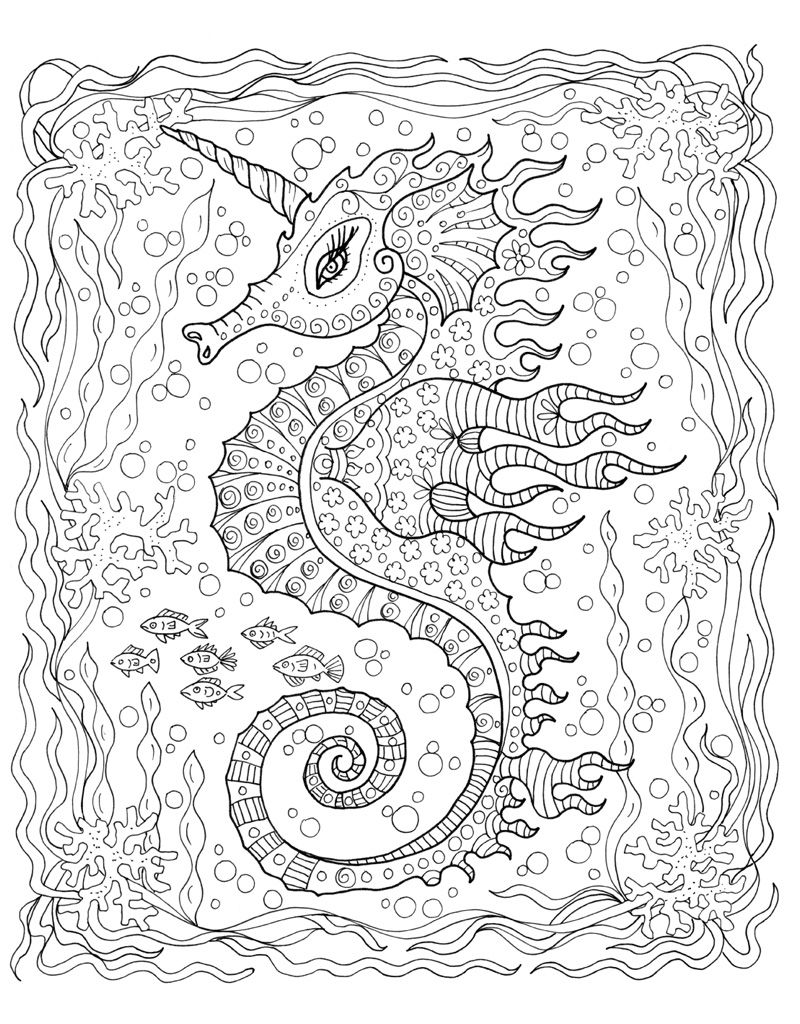 800x1024 Zendoodle Coloring Under The Sea Underwater, Whimsical And Explore