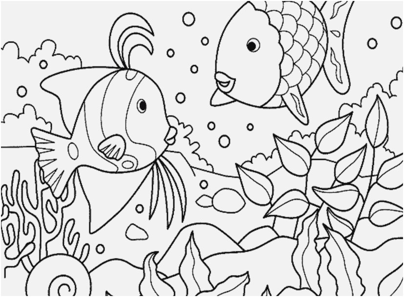 827x609 Underwater Coloring Pages Printable Design Lilo Underwater