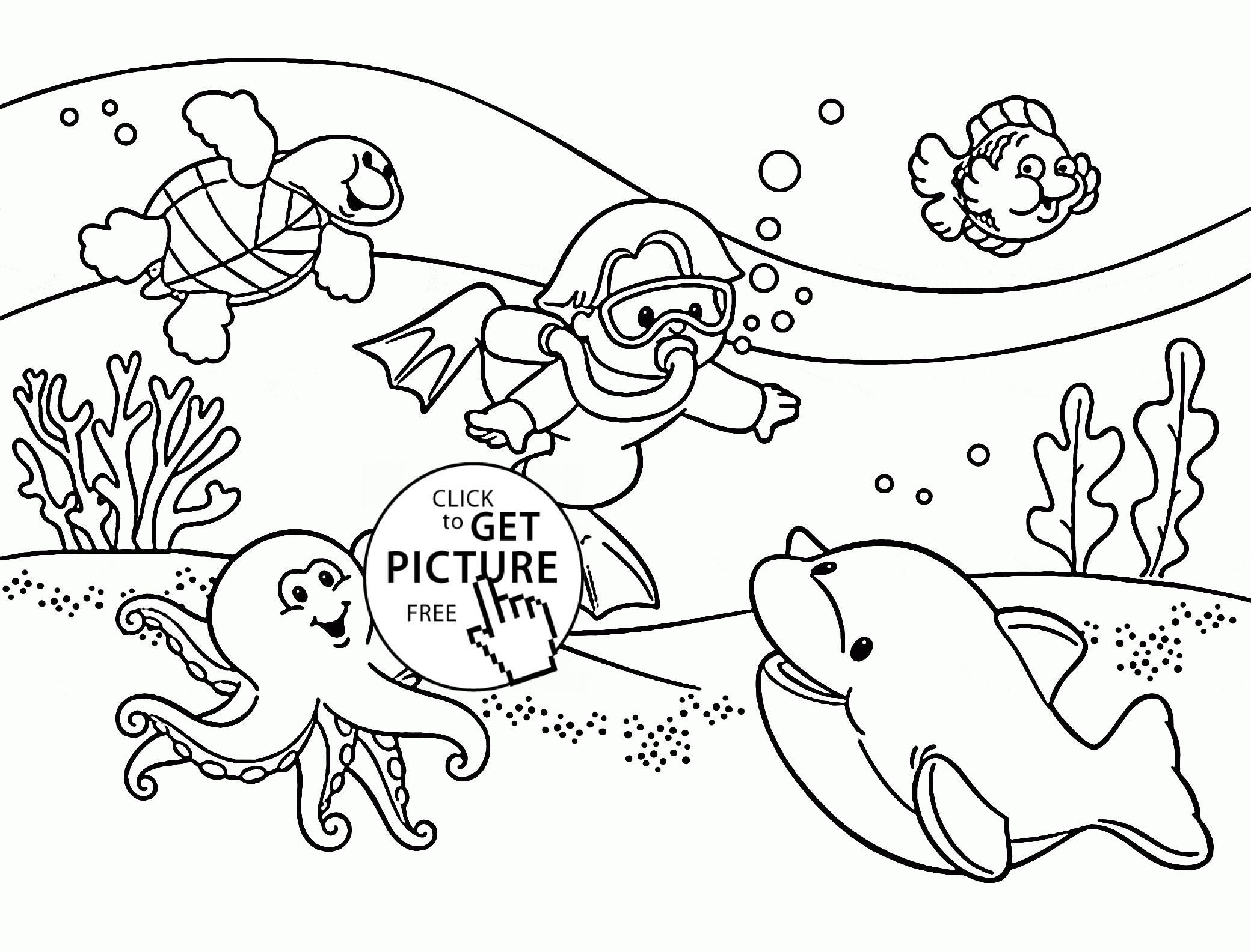 2080x1585 Coloring Pages Underwater Coloring Sheet