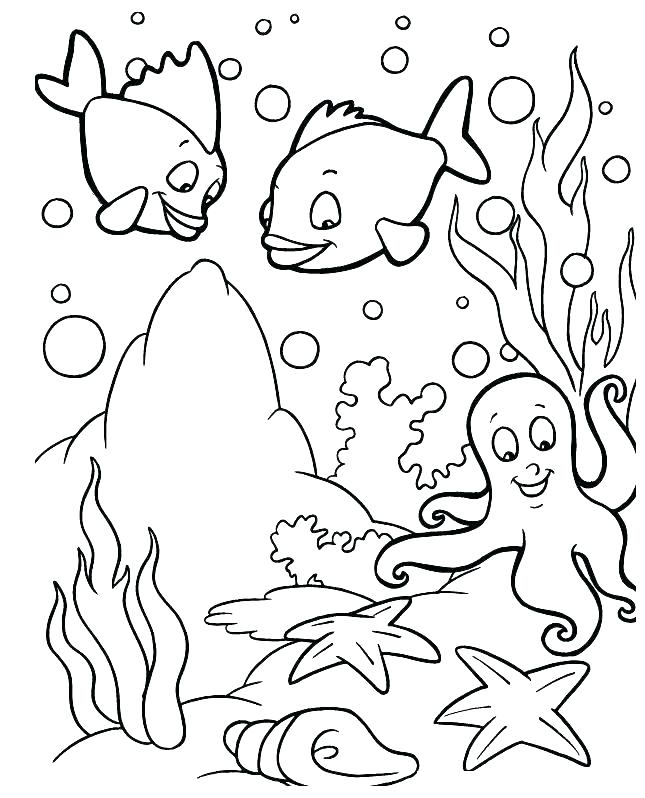 645x798 Sea Animals Coloring Pages Underwater Animals Coloring Pages