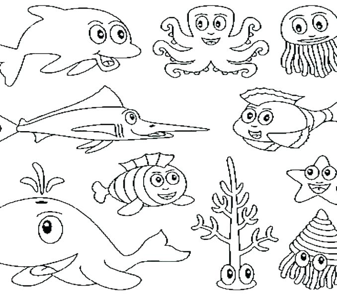 678x600 Underwater Coloring Pages Ocean Scenes Coloring Pages Deep Sea