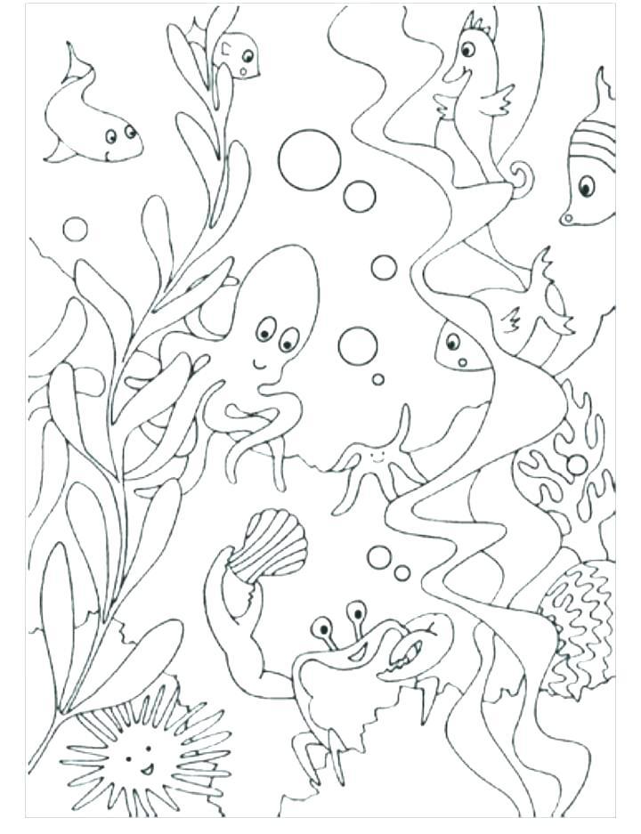 720x937 Underwater Coloring Pages Ocean Scenes Coloring Pages Ocean Scene