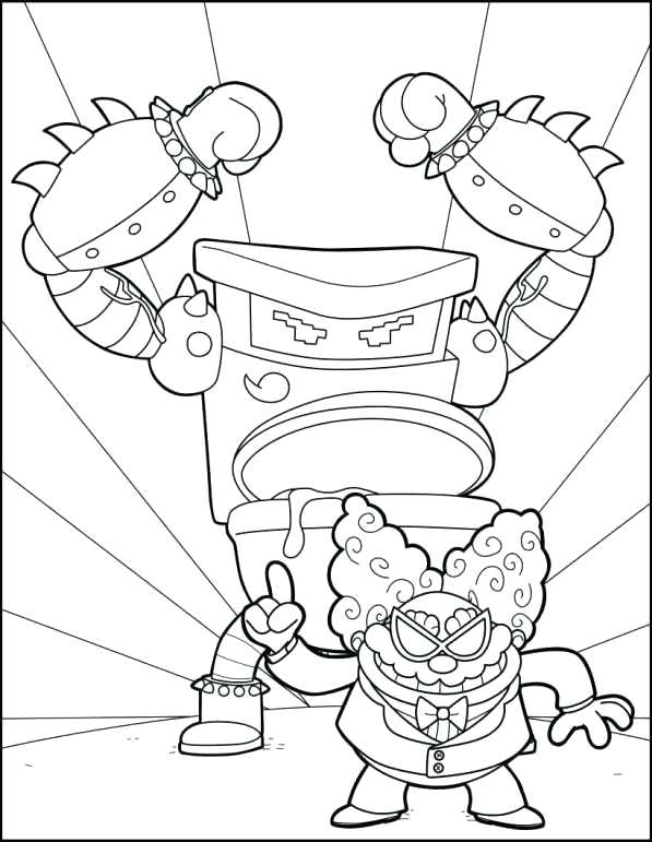 597x771 Captain Underpants Coloring Pages And Captain Underpants Coloring
