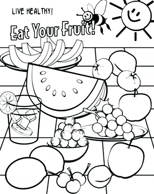 522x657 Healthy Food Coloring Page Food Coloring Pages Unhealthy Food