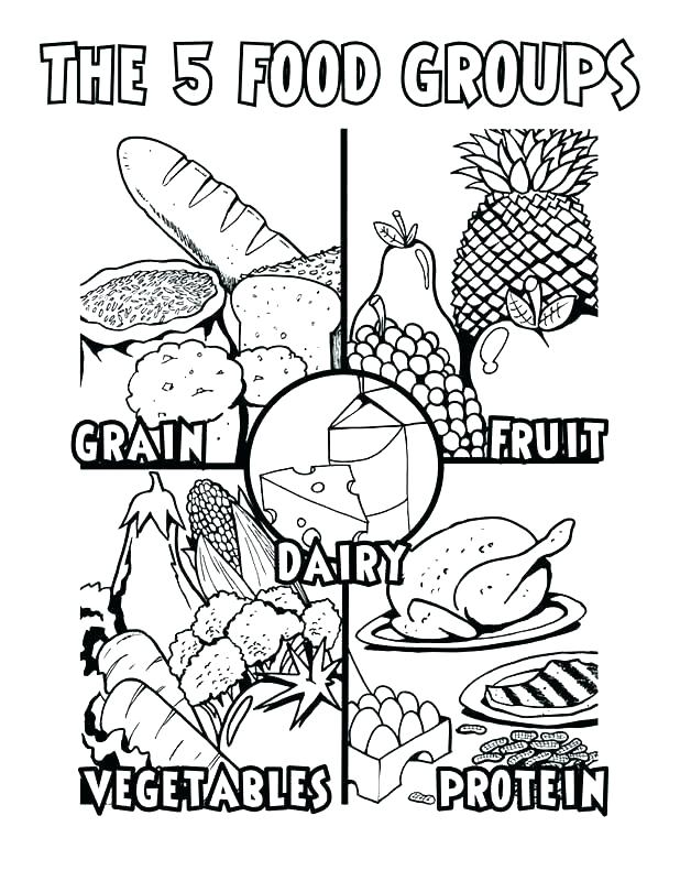 618x800 Healthy Food Coloring Pages Healthy Foods Coloring Sheets Healthy