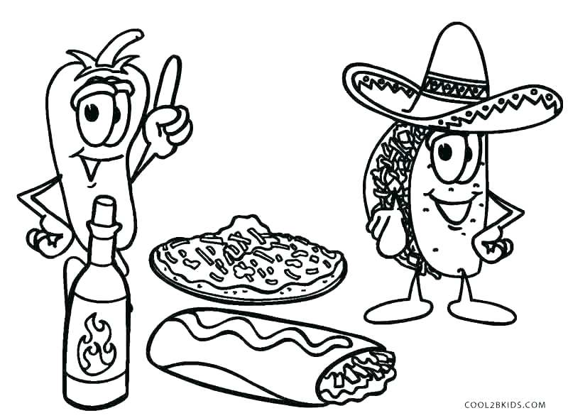 800x589 Healthy Vs Unhealthy Food Coloring Pages Roast Junk Colouring