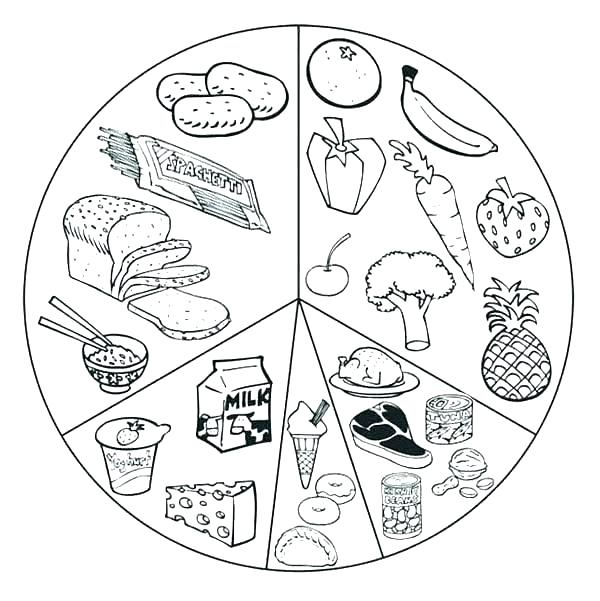 600x601 Junk Food Coloring Pages Food Coloring Sheets Healthy Eating