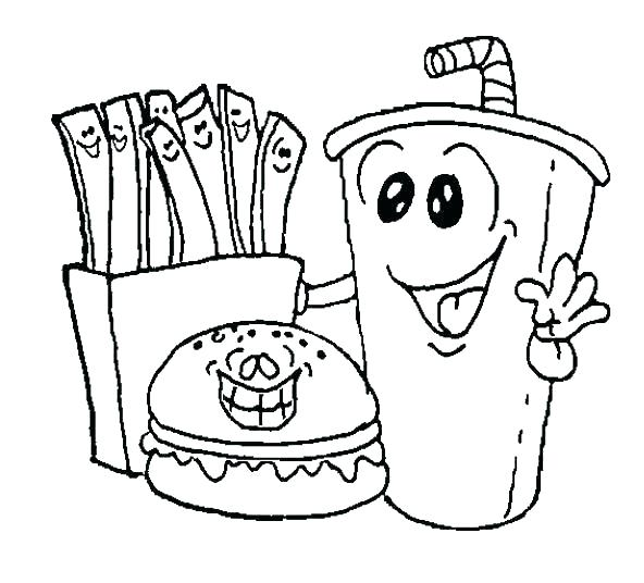 592x536 Junk Food Colouring Pictures Healthy Foods Coloring Pages