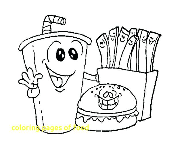 640x501 Printable Food Coloring Pages Unhealthy Food Coloring Pages