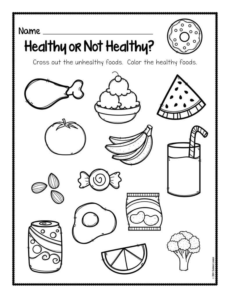 Unhealthy Food Coloring Pages At Getdrawings Free Download