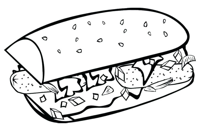850x530 Unhealthy Food Coloring Pages Junk Food Coloring Sheets