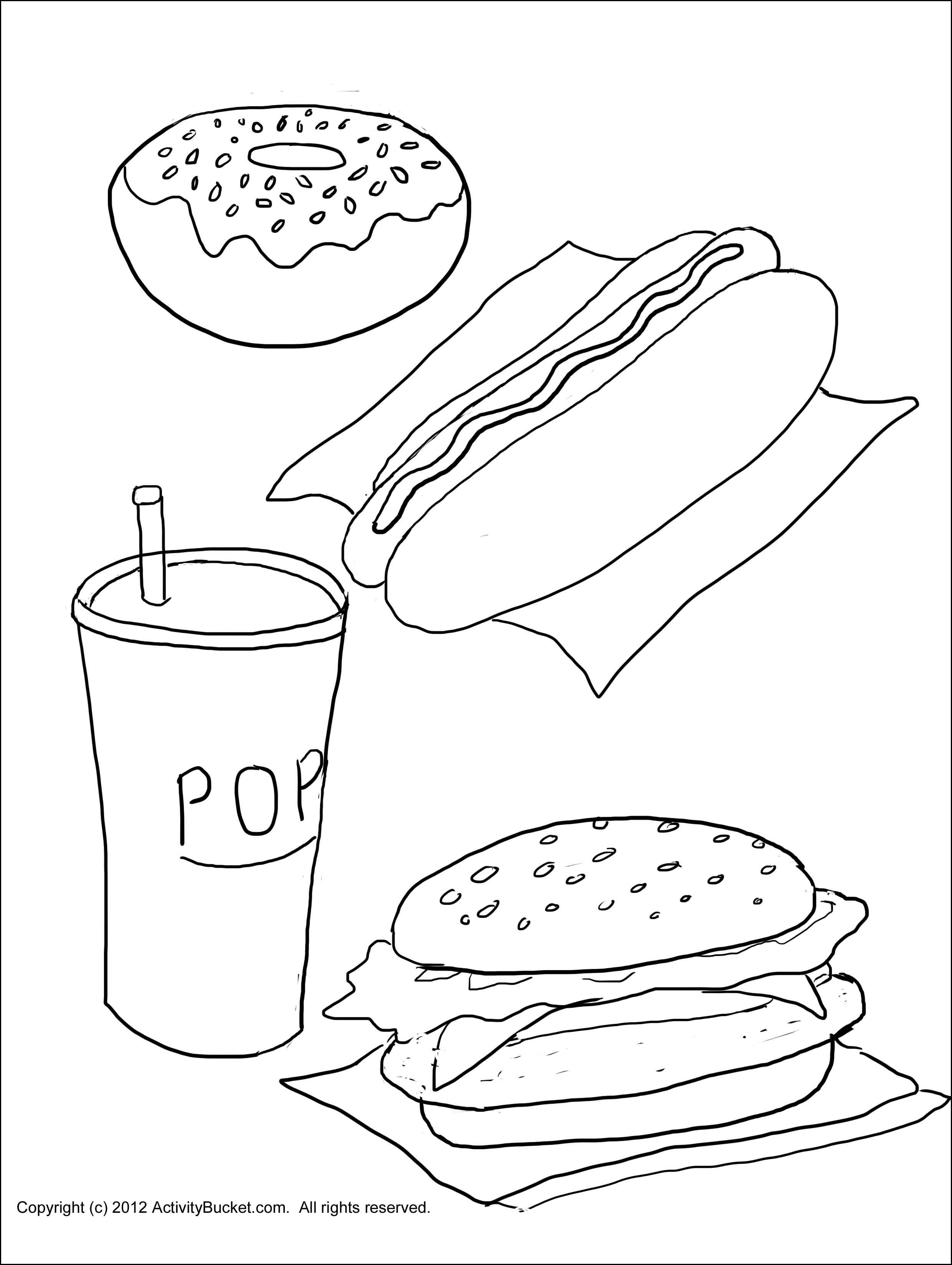 2480x3295 Unhealthy Food Coloring Pages Printable Coloring For Kids