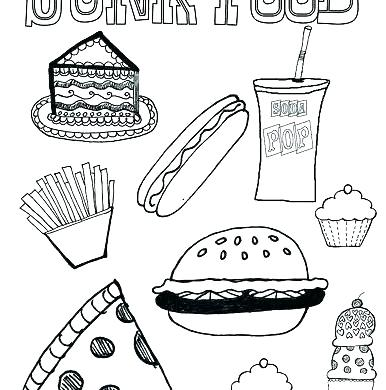 386x390 Unhealthy Food Coloring Pages